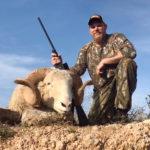 trophy merino ram hunt in texas