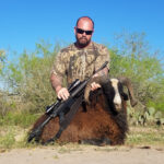 trophy painted desert ram hunt in texas